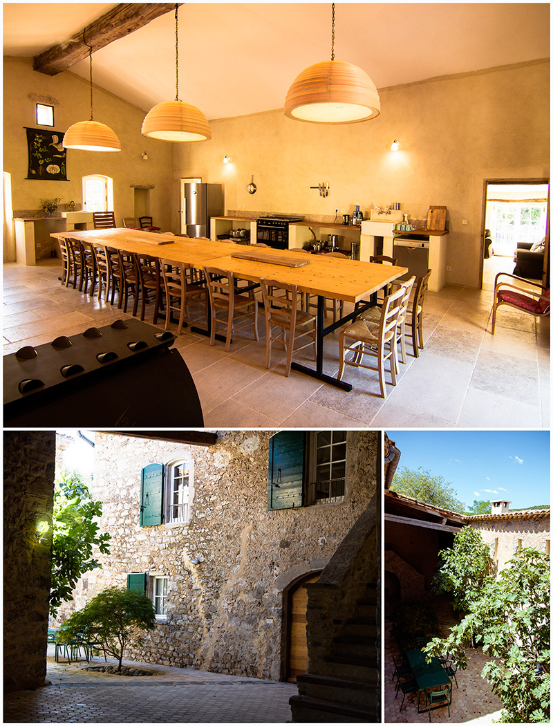 Spacious kitchen and inner courtyard